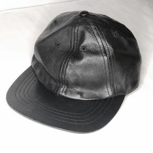 American Apparel Leather Baseball Hat